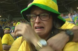 Brazilian supporters crying